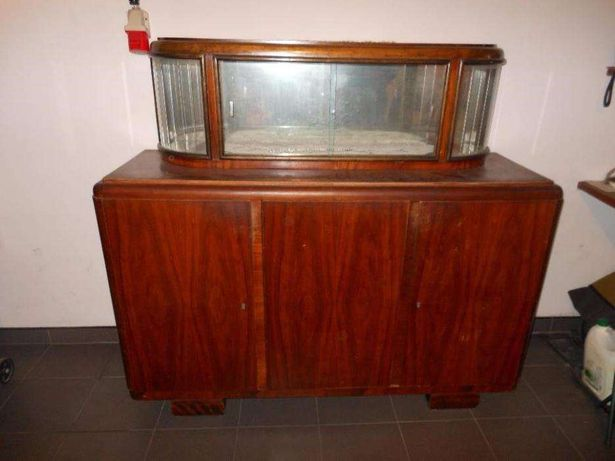 Drewniany kredens vintage retro PRL
