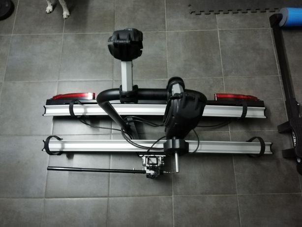 Suporte para 2 bicicletas para bola de reboque ajustável com chaves