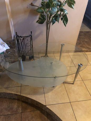 Duży stół Szklany mebel salon poczekalnia gabinet stolik ława szkło