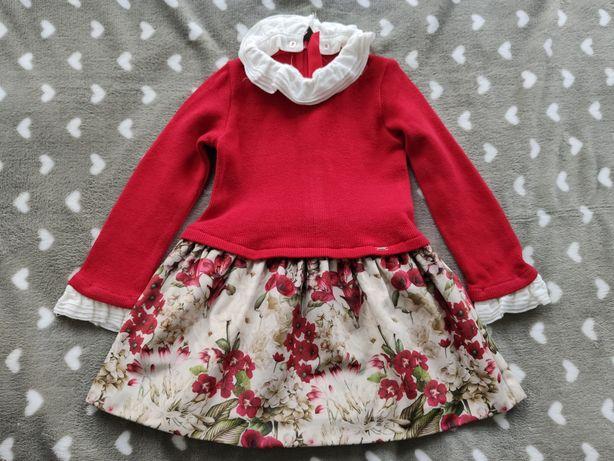 Czerwona sukienka marki Mayoral rozmiar 98