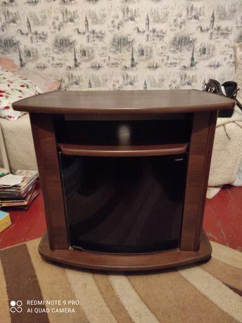 тумба под телевизор с стеклом
