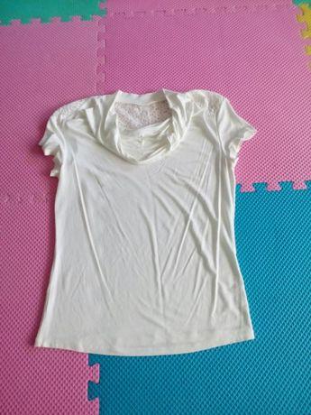 Bluzka biała krótki rękaw