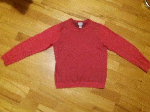 Czerwony sweter dziecięcy 140