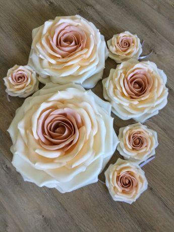 Квіти з ізолону, фоамірану. Квіти для весільної машини