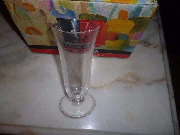 copos de cristal RCR série Hibiscus Fluts e calices
