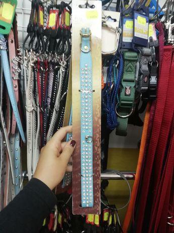 Ozdobna obroża niebieska z perełkami 50cm