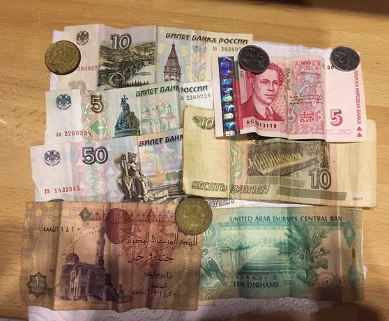 Монеты, купюры, купюри, монети, колеція монет