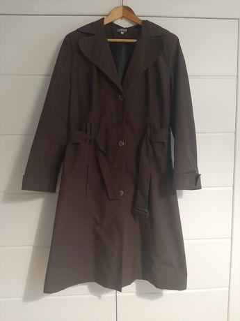 Płaszcz trencz damski rozmiar 38 (M), brązowy