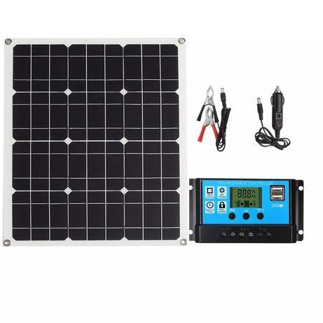 Kit Painel solar 50w controlador 30A cabos