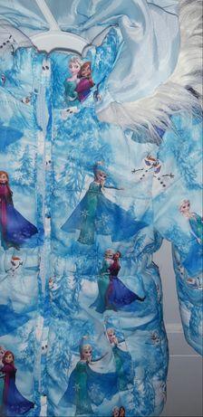 Kurtka firmowa H&M Elsa frozen kraina lodu rozniar 92