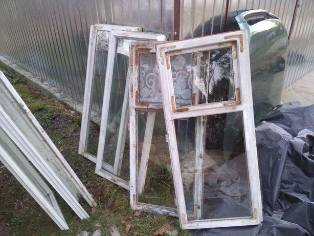 Okna drewniane z rozbiórki za darmo