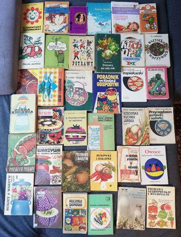 Zestaw 2-książki kucharskie-vintage i współczesne-36 sztuk.