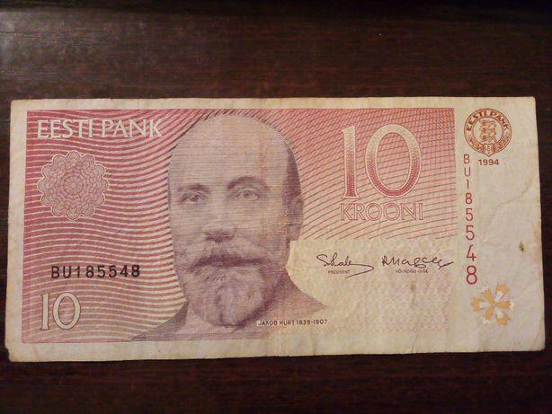 Banknot 10 krooni Estonia