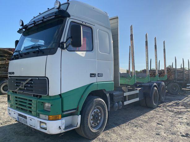 Volvo FH 12 , 420 , 6x2  do drewna, do lasu