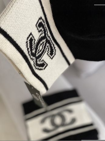 Chanel komplet PREMIUM czapka  plus szalik