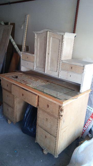 oczyszczone unikatowe barokowe antyczne biurko