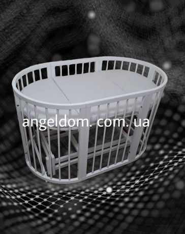Круглая кроватка 9 в 1  (маятник+матрас+колеса).