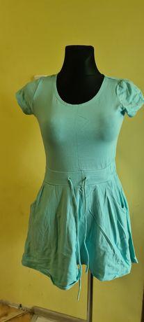 Sukienka bawełniana z kieszeniami rM