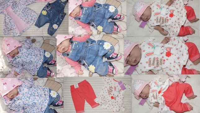 Markowy zestaw dla dziewczynki roz.0-3-6-9m dużo nowych lato-jesień