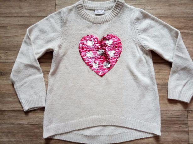 свитер для девочки двухсторонняя паетка , Турция