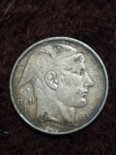 20 Franków 1951 Belgia srebro pr 835