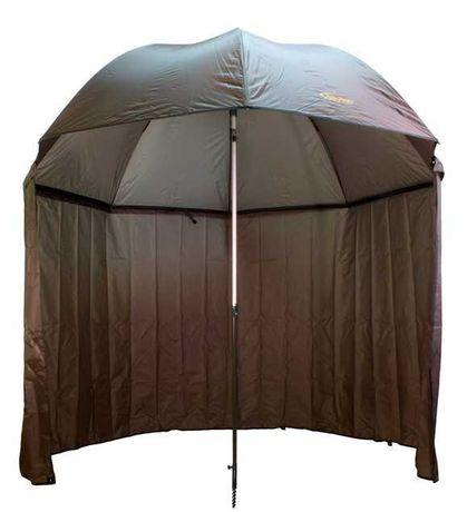 Карповый рыболовный зонт-палатка. Защитит вас от солнца и дождя.