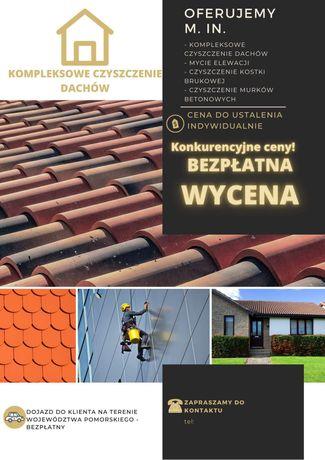 Mycie czyszczenie elewacji dachow i kostki