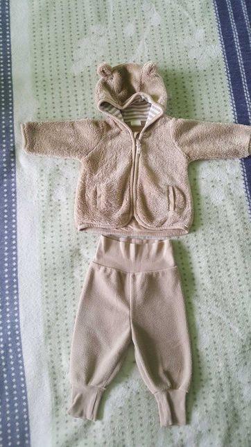 Komplet na jesień ciepła bluza(kurteczka) i spodnie rozm.62