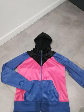 R. 40 fioletowo - różowo czarna bluza damska na suwak