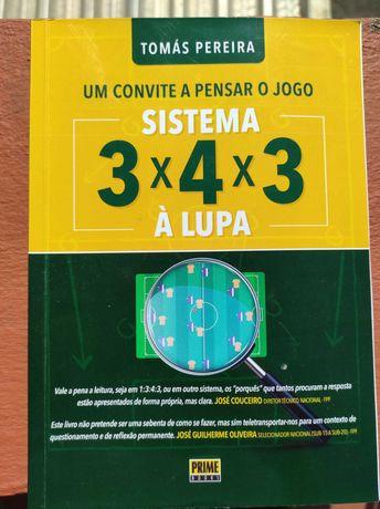 """Livro """"Sistema 3-4-3 à lupa"""" de Tomás Pereira"""