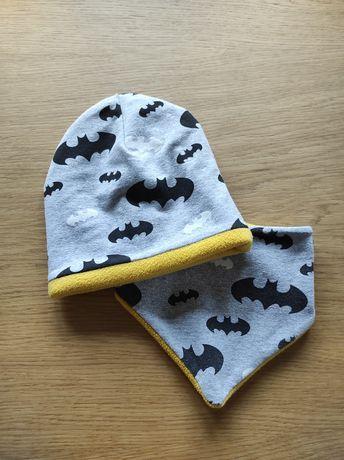 Czapka i szalik dla chłopca Batman, Handmade.