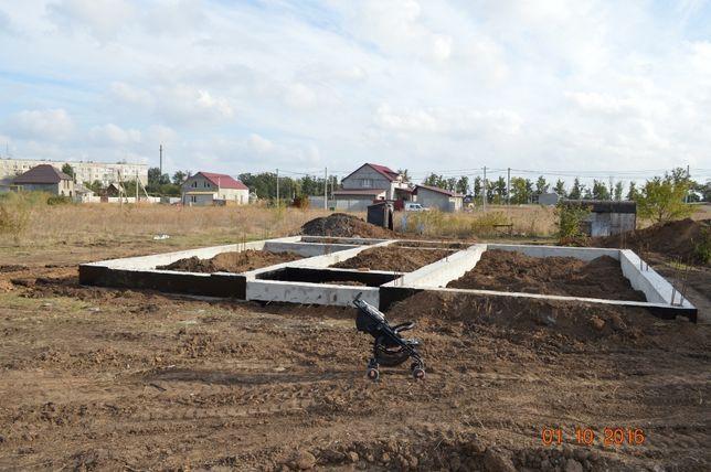 Продам участок 10 соток с мощным фундаментом (станция Усатово)