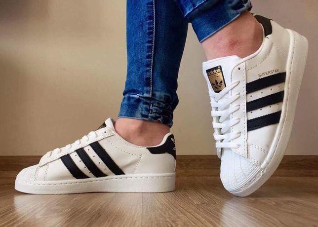 Adidas Superstar rozmiary 36,37,38,39,40,41. Kolor śnieżno biały.