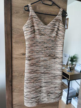 Sukienka mini beżowa