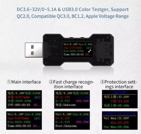 USB Tester - Testador de cabos e dispositivos USB