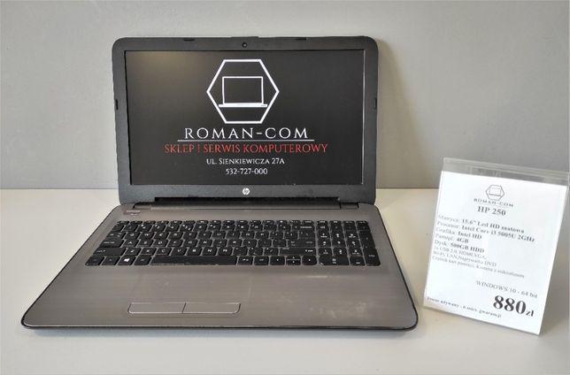 """Laptop HP 250(15,6""""/ Intel Core i3 -5 Generacji / 4GB ram / 500GB HDD)"""