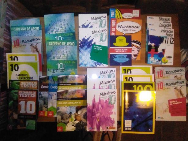 Manuais e cadernos 10° ano (Novos e usados)