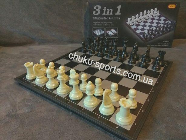 Шахматы Нарды Шашки 3 в 1 магнитные 98803 98703