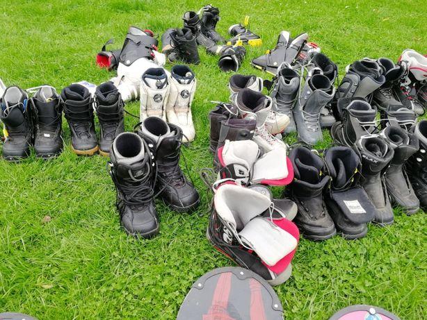 buty snowboardowe pakiet 33 pary / okazja