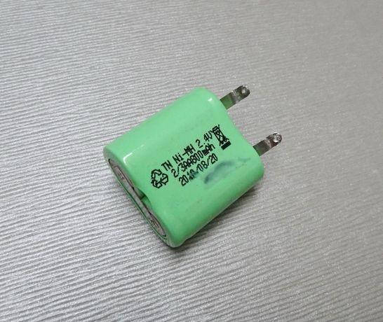 Аккумулятор TN Ni-MH 2.4V 2/3 AA800mAh (оригинал) блок батарея 29х29мм