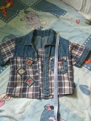 Рубашка и шорты на мальчика до 2 лет