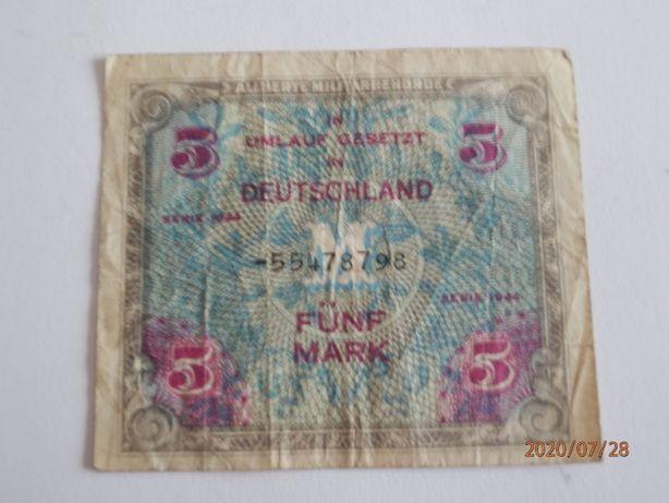 Бона Германия советская зона оккупации 5 марок 1944