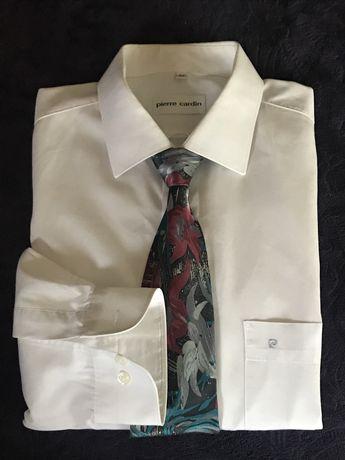 Elegancka koszula Pierre Cardin i koreański krawat gratis