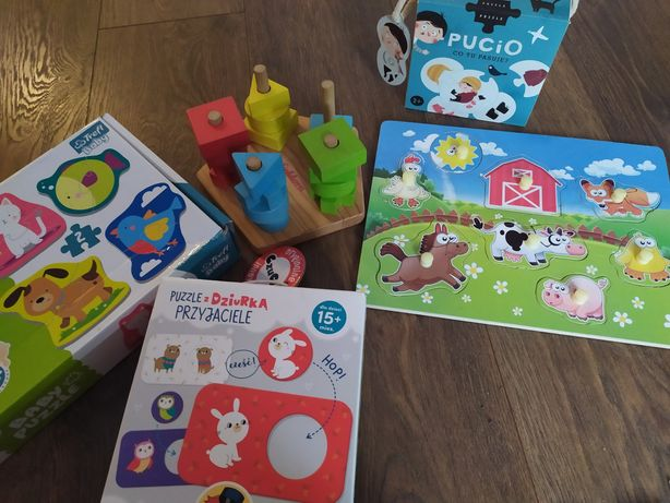 Zabawki pucio, puzzle