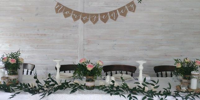 Dekoracje ślubne-rustykalne