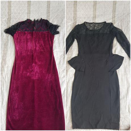 Платье, летнее, с баской, кружево, 3 шт
