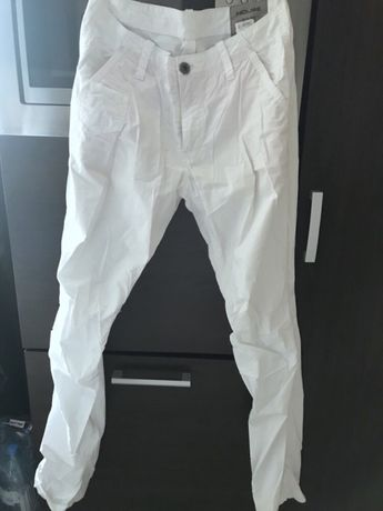 Białe spodnie house meskie r.S stan bdb