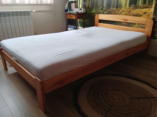 Łóżko drewniane 120cm + materac