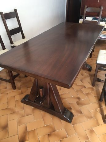 Mesa sala jantar + 6 cadeiras