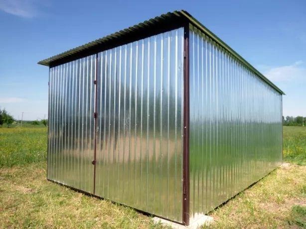 Garaż blaszany WZMOCNIONY Blaszak na budowę Garaże blaszane PRODUCENT
